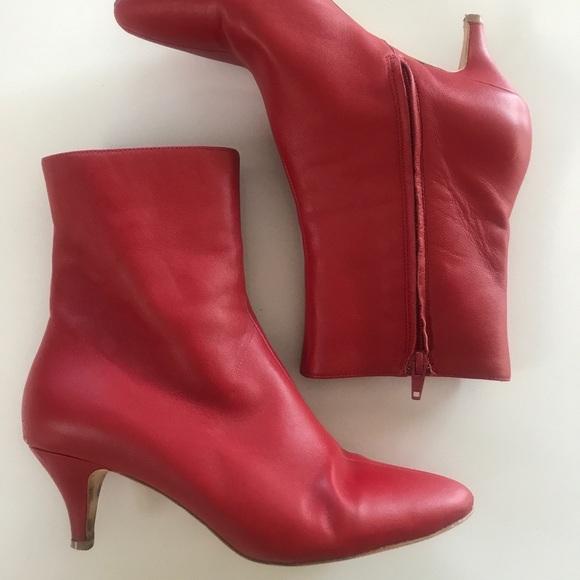 270d7b37f129 charlotte Stone Shoes - CHARLOTTE STONE FLAME KITTEN HEEL BOOTIES